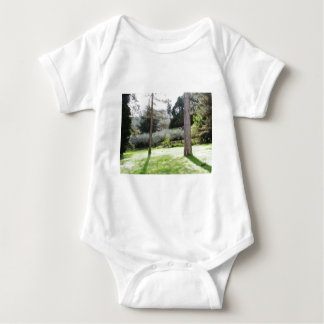 Artistic representation of tuscan countryside baby bodysuit