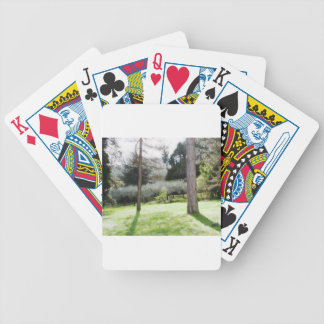 Artistic representation of tuscan countryside bicycle playing cards