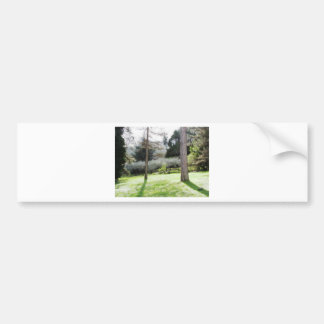 Artistic representation of tuscan countryside bumper sticker