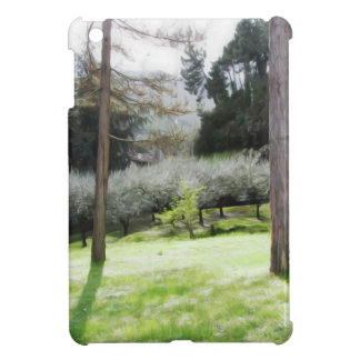 Artistic representation of tuscan countryside cover for the iPad mini