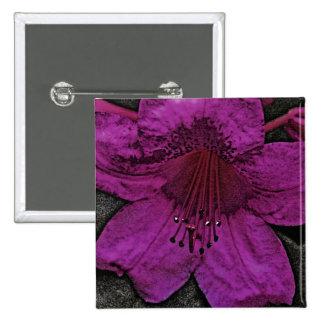 Artistic Rhododendron Button