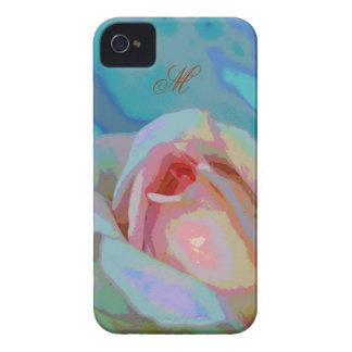 Artistic Rose & Monogram Blackberry bold case