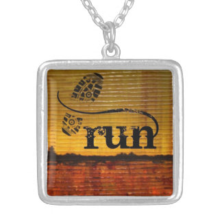 Artistic Runner w/shoe Silver Plated Necklace