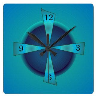 Artistic Sea green and Blue > Kitchen Clock