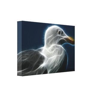 Artistic seagull canvas print