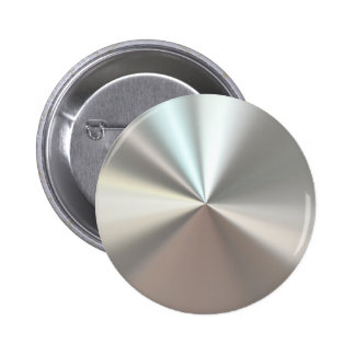 Artistic silver metal 6 cm round badge
