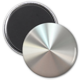 Artistic silver metal 6 cm round magnet