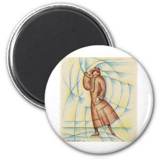 Artistic Skater 6 Cm Round Magnet