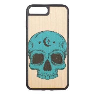 Artistic Skull (blue) Carved iPhone 8 Plus/7 Plus Case