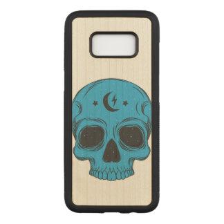 Artistic Skull (blue) Carved Samsung Galaxy S8 Case