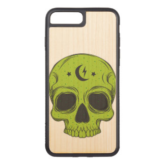 Artistic Skull (green) Carved iPhone 8 Plus/7 Plus Case