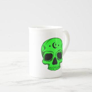 Artistic Skull (green) Tea Cup