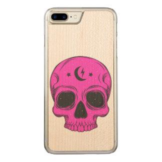 Artistic Skull (pink) Carved iPhone 8 Plus/7 Plus Case