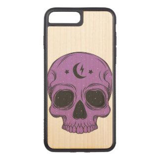 Artistic Skull (purple) Carved iPhone 8 Plus/7 Plus Case