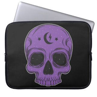 Artistic Skull (purple) Laptop Sleeve