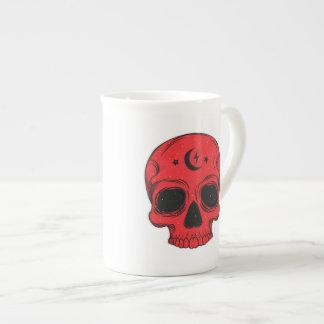Artistic Skull (red) Tea Cup