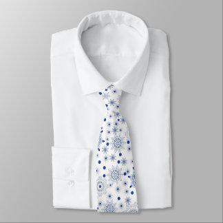 Artistic Snowflake Pattern Tie
