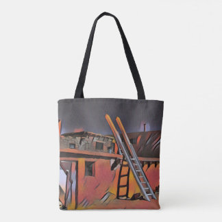 Artistic Southwest New Mexico Navajo Dwelling Tote Bag