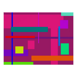 Artistic Space Bold Pink Poster