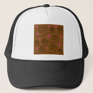 Artistic Spirals black on brown Trucker Hat
