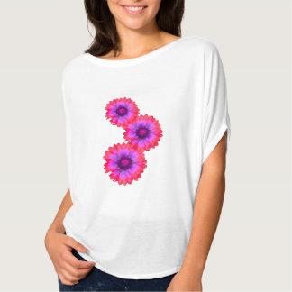 Artistic summer flowers tee shirt