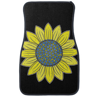 Artistic Sunflower Car Mat