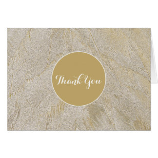 Artistic Swan Feathers Card