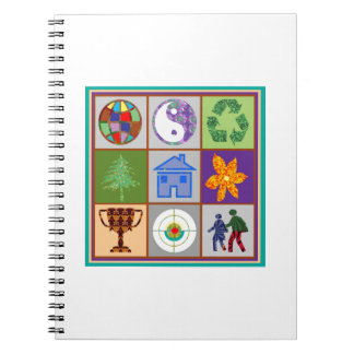 Artistic Symbol Shapes TEMPLATE Reseller Welcome Notebook