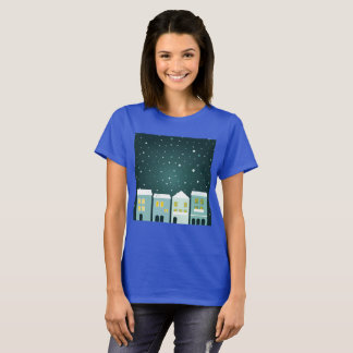 Artistic t-shirt with Magical handdrawn Village