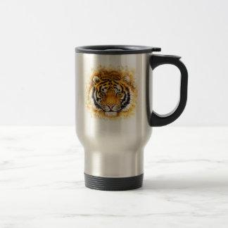 Artistic Tiger Face Travel Mug