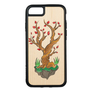 Artistic Tree Illustration Carved iPhone 7 Case