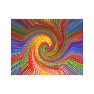 Artistic Twirl Rainbow Colors Cheerful GIFTS FUN Gallery Wrap Canvas