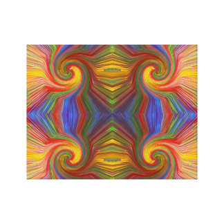 Artistic Twirl Rainbow Colors Cheerful GIFTS FUN Canvas Print