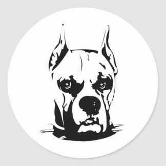 Artistic Urban Boxer Dog Breed Design Round Sticker
