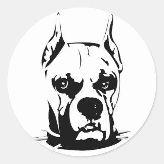 Artistic Urban Boxer Dog Breed Design Round Sticker