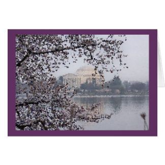 Artistic view of Cherry Blossoms at Tidal Basin Card