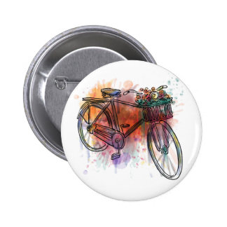Artistic Vintage Bike 6 Cm Round Badge