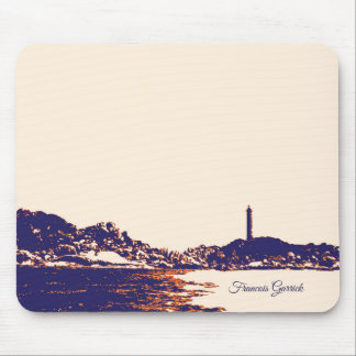 Artistic Vintage Lighthouse Personalised Mouse Pad
