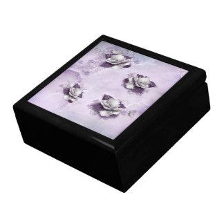 Artistic Violet Floral Trinket Box