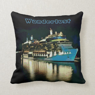 Artistic Wanderlust Ship Reflections Night Throw Pillow