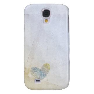 Artistic washed out heart text design samsung galaxy s4 cover