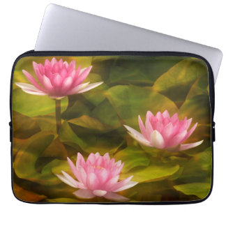 Artistic water lilies, California Laptop Sleeve