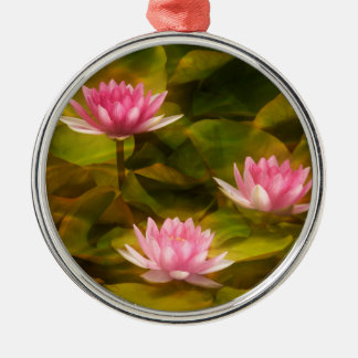 Artistic water lilies, California Metal Ornament