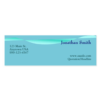 Artistic Wave Profile Cards Double-Sided Mini Business Cards (Pack Of 20)