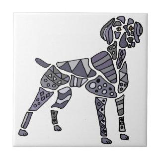 Artistic Weimaraner Dog Art Small Square Tile