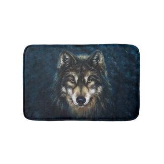 Artistic Wolf Face Bath Mats