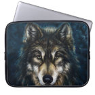 Artistic Wolf Face Laptop Sleeve