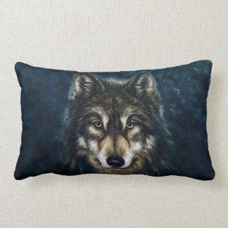 Artistic Wolf Face Lumbar Pillow