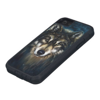 Artistic Wolf Face Tough Xtreme iPhone SE Case