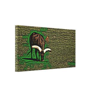 Artistic yak scenic canvas print
